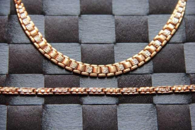 Złoto 585 złota kolia łancuszek bransoletka bransoleta APART zestaw 14 Kłobuck - image 1