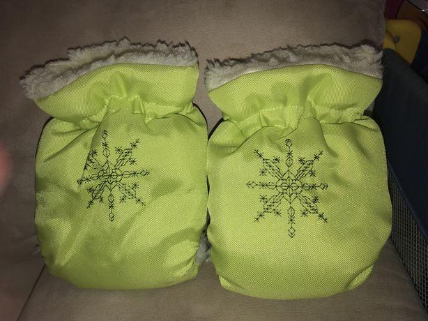 Муфты, рукавички для коляски/санок