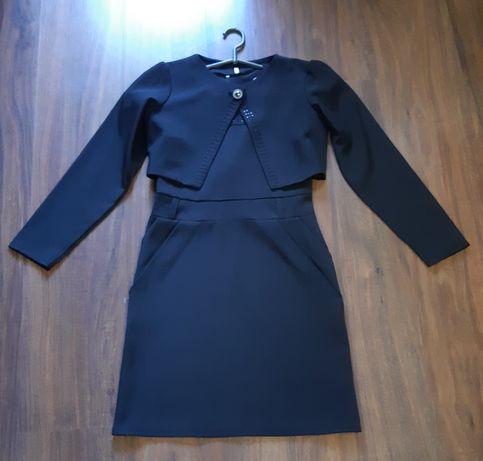 Школьная форма черная платье сарафан болеро пиджак