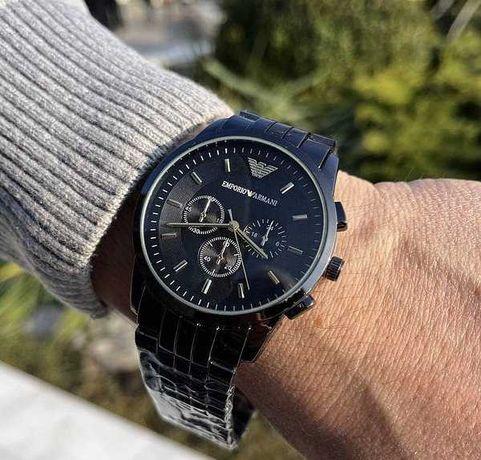 Мужские часы Armani Emporio, Армани, чоловічий годинник, черные