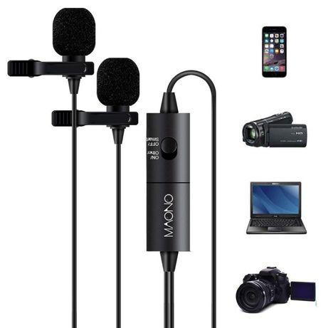 Podwójny Mikrofon Krawatowy MAONO AU-200 DSLR np. do akordeonu