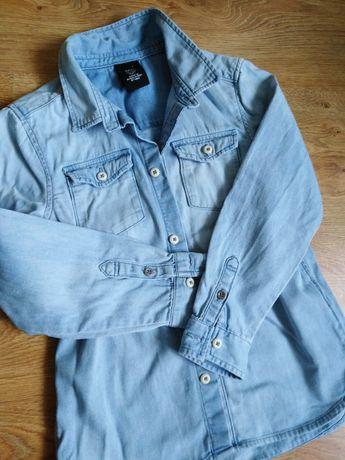 Koszula h&m jeansowa 122 6-7lat