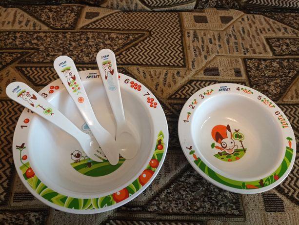 Продам новый набор детской посуды Avent Philips 1000 рублей
