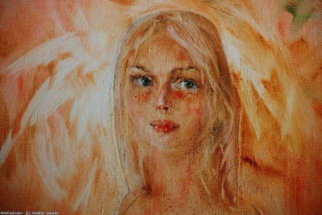 Картина живопись маслом девушка эротика ню, обнаженная.  2004 г.