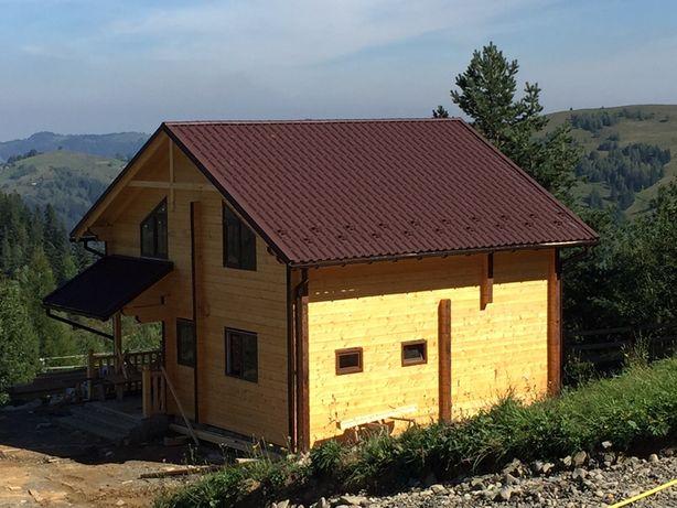 Брус та виготовлення дерев'яних будинків