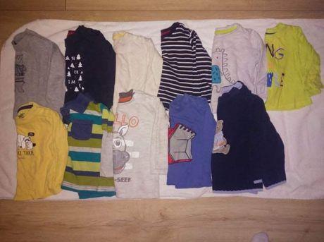 Bluzeczki bluzki na długi rękaw 74 80 dla chłopca