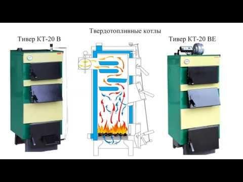 Котел твердотопливный Тивер КТ КТ-В 12-30 кВт с регулятором тяги 5 мм