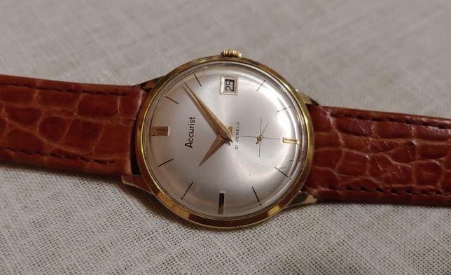 """Швейцарские часы """"Accurist"""" Swiss в позолоте 1970-х года времён ссср."""