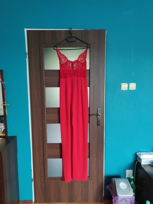 Długi kombinezon damski czerwony r. M Limanowa - image 1