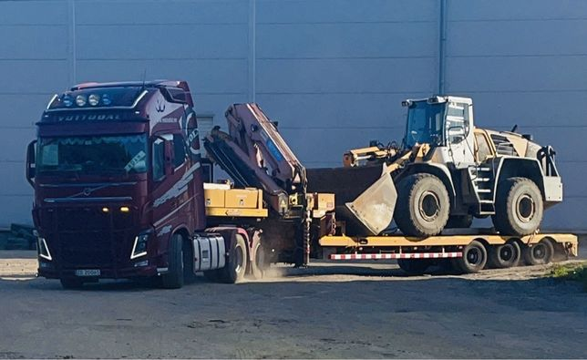 Transport niskopodwoziowy,maszyny budowlane,hds,gabaryt,szambo