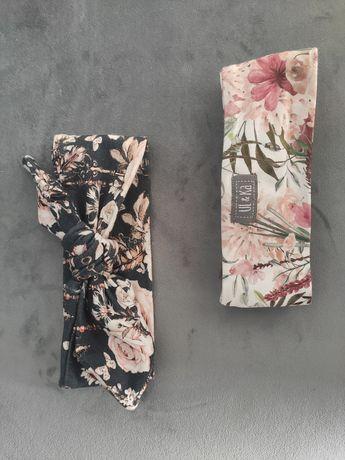 Opaski Ul&ka 2szt  36cm 0-2 miesiące wzór vintage i kwiaty boho