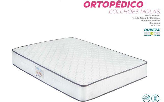 Colchões Ortopédicos NOVOS 183x133 190x140 200x160 c/ entrega Grátis