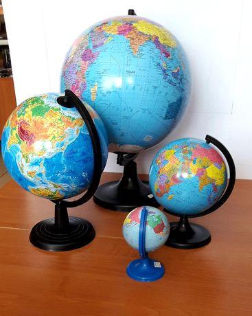Глобуси політичний , географічний