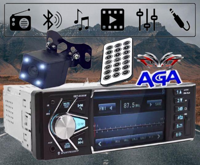 "Radio Samochodowe 1DIN 4.1"" MirrorLink"" + Kamera Cofania Bluetooth MP3"