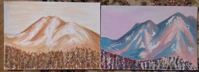 Obraz pejzaż krajobraz góry las abstrakcja ekspresja