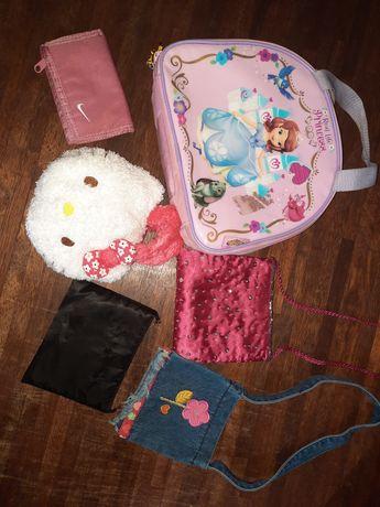 Zestaw dla dziewczynki hello kitty zosia nike torebka torebki portfel