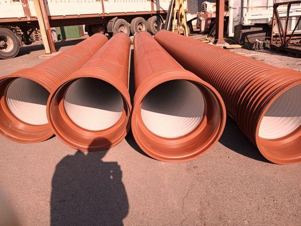 Гофрированные канализационные и дренажные трубы SN8 отØ160 - доØ1000