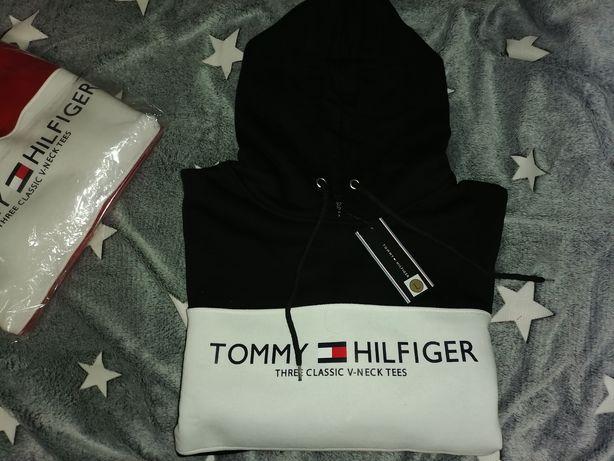 Bluza męska Tommy Hilfiger czarna czerwona M L XL