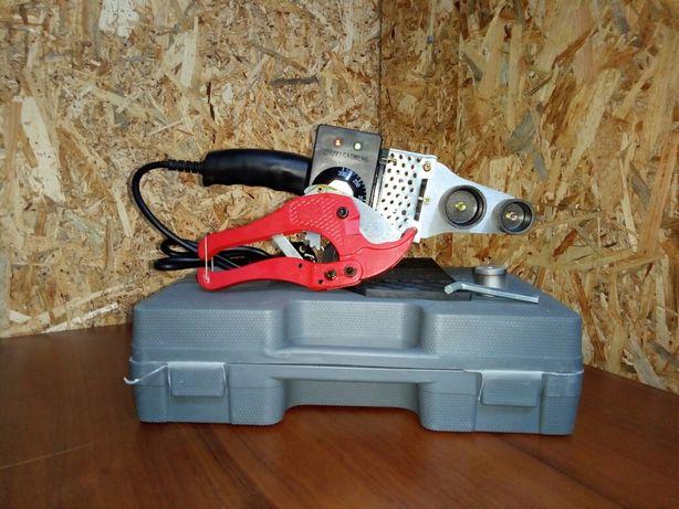 Паяльник для пайки полипропиленовых и пластиковых труб +ножницы.