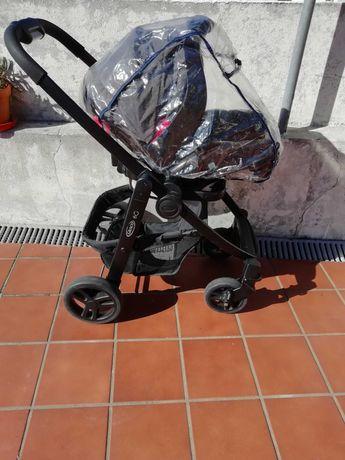 Carrinho Graco Ovo+Cadeira Passeio+Base Isofix+Acessórios
