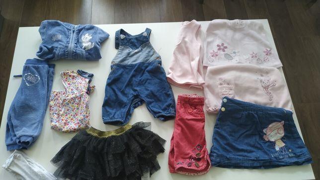 Zestaw paka ubrań 74 dziewczynka dres Disney spódniczka tiulowa Smyk