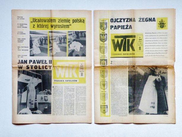 '' Wrocławski Tygodnik Katolików '' 2 numery - wizyta Papieża 1979 rok