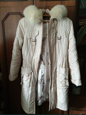 Куртка зимняя бежевая