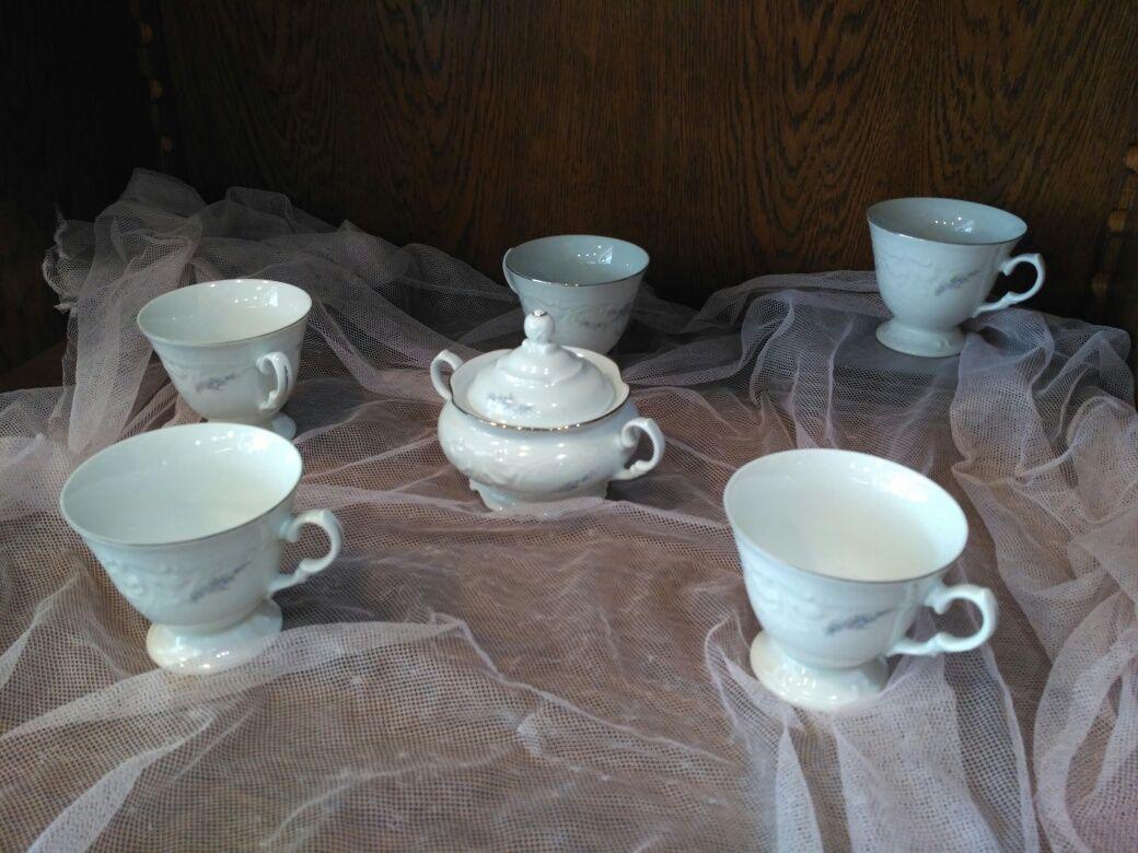 Zestaw serwis kawowy herbaciany Wawel