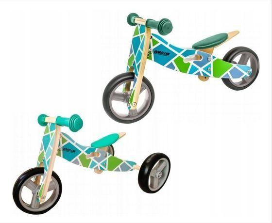 Rowerek biegowy drewniany 2w1