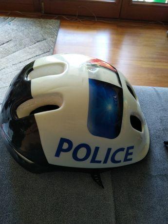Kask rowerowy dziecięcy atrapa hełmu Police