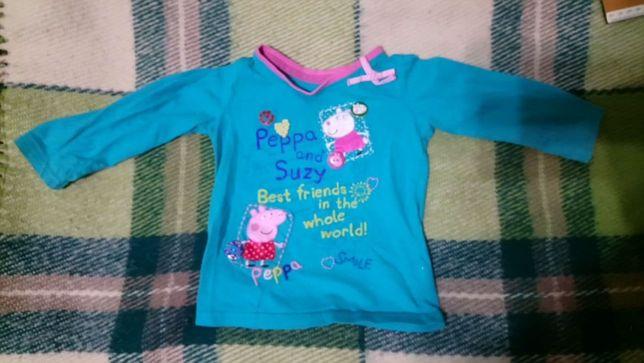 Кофточка футболка на девочку 9-12 месяцев 4-5 лет