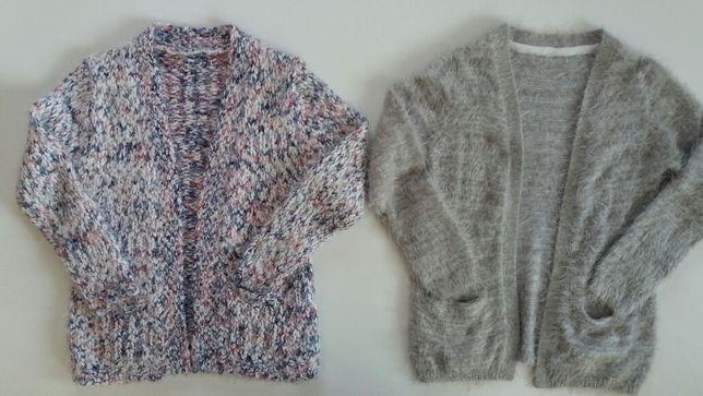 Sweter KARDIGAN Dłuższy dla dziewczynki rozmiar 128
