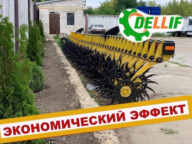 Борона ротационная Dellif Белла 6 м цельная