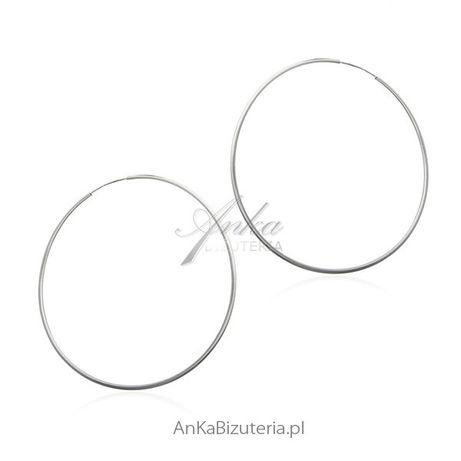 ankabizuteria.pl Kolczyki Przeciągane Kolczyki srebrne koła - 5 wielko