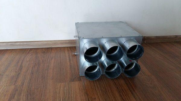 Rozdzielacz rurowy izolowany akustycznie 6x90mm/160
