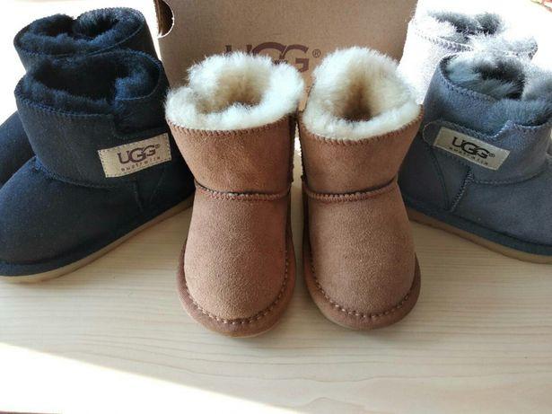 Детские угги ботинки мальчикам на меху теплые натуральная овчина 19-35
