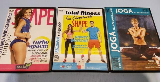 Zestaw - płyty DVD z ćwiczeniami z Shape