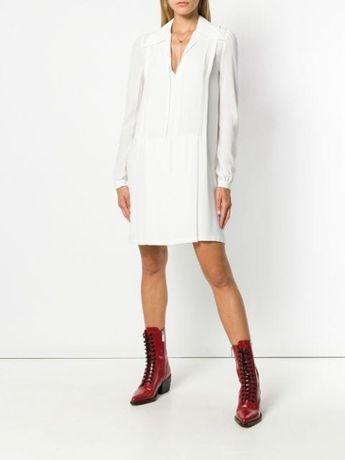Платье Chloe original белое шелковое платье плиссе брендовое платье