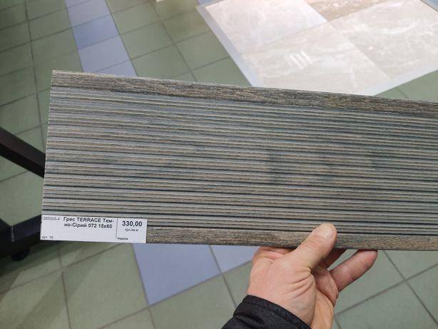 Кафель Грес TERRACE темно-серый 072 15*60 см