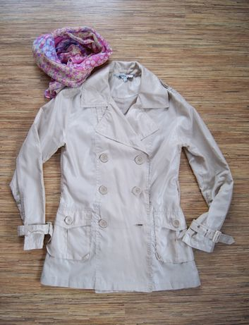 GOTHA LOVE Wiosenny płaszcz Trencz Płaszczyk M/38 +szal