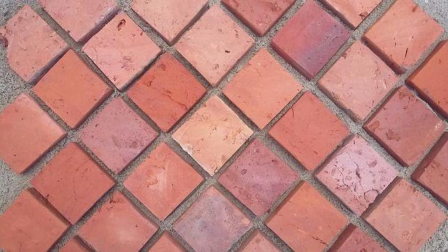 Cegła cięta mozaika terakota