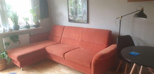 Narożnik kanapa rozkładana z funkcją spania