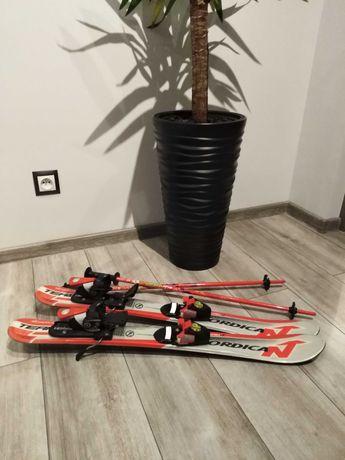 Narty Nordica 80cm +kijki 70cm
