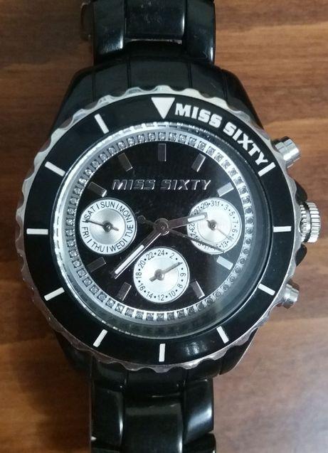 Часы женские дизайнерские кварцевые Miss Sixty Gliter R0751105502