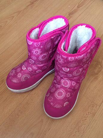 Ботинки зимние сапоги сапожки розовые 34р зимові рожеві