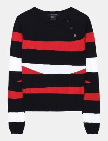 Sweterek Emporio ARMANI EXCHANGE sweter r.M stripe wave BUTTON AJ