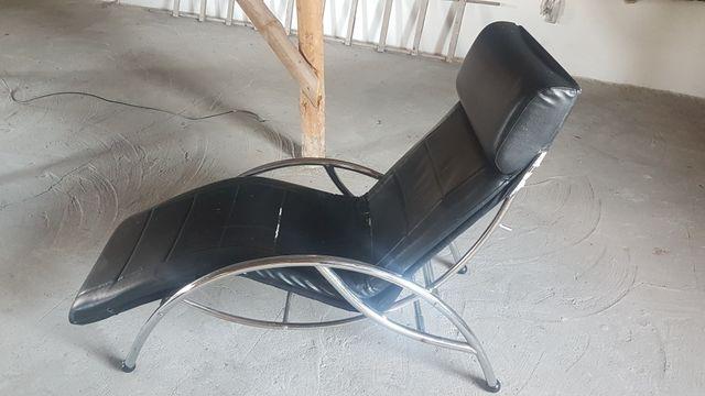 Fotel skórzany czarny