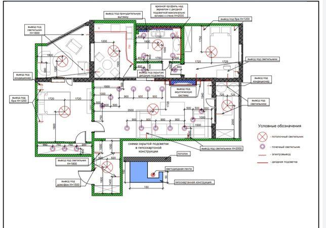 Разработаю чертежи для ремонта квартиры или дома, Дизайн-проект