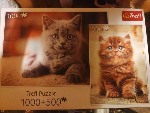 Puzzle trefl 1000+500 zamienię