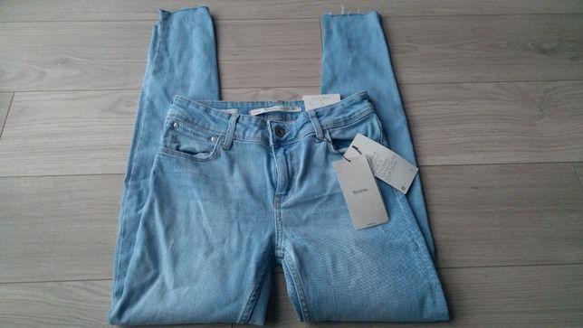 Bershka nowe spodnie rurki oryginalne wycięcia